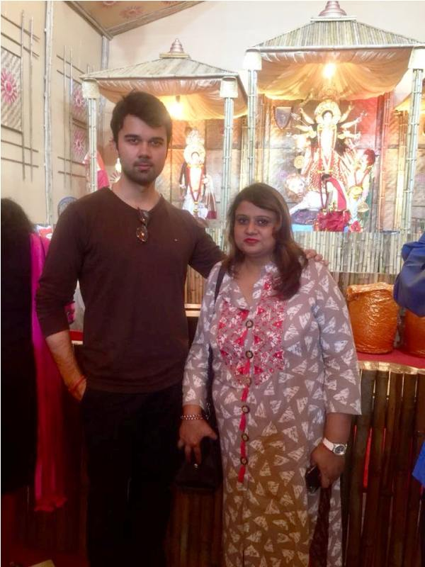 Avinash Mukherjee with His Mother