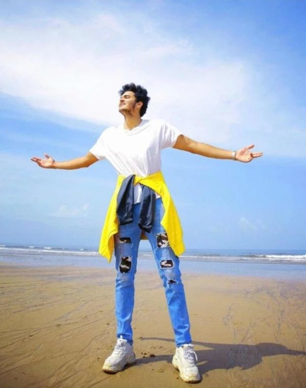 Bhavesh Kumar on the beach of Goa