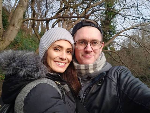 Bruna Abdullah with her husband, Allan Fraser