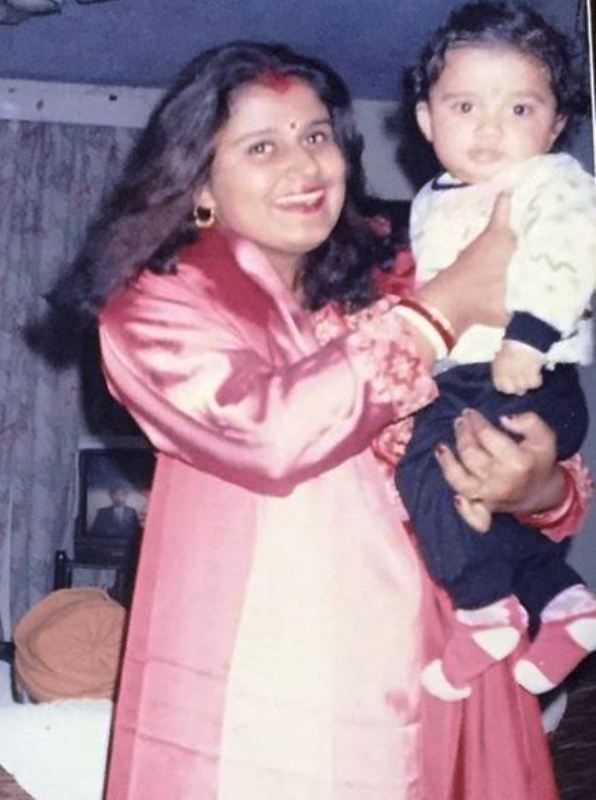 Childhood Picture of Avinash Mukherjee with His Mother