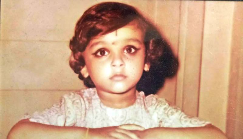Childhood Picture of Suchitra Krishnamoorthi