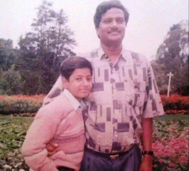 Childhood Picture of Sundeep Kishan with His Father