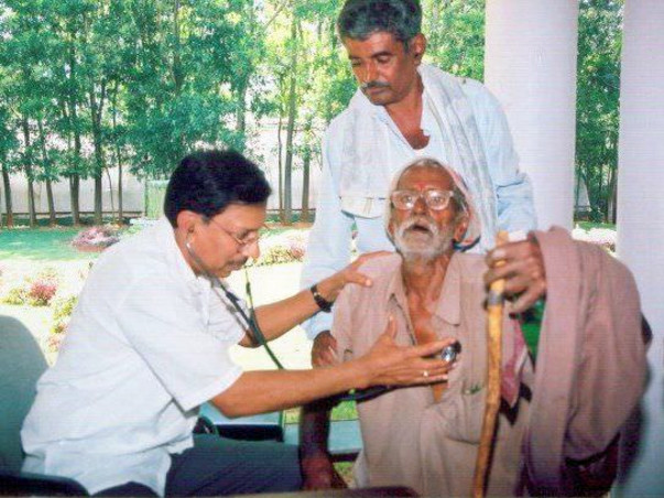 Dr. B. Ramana Rao with His Patient