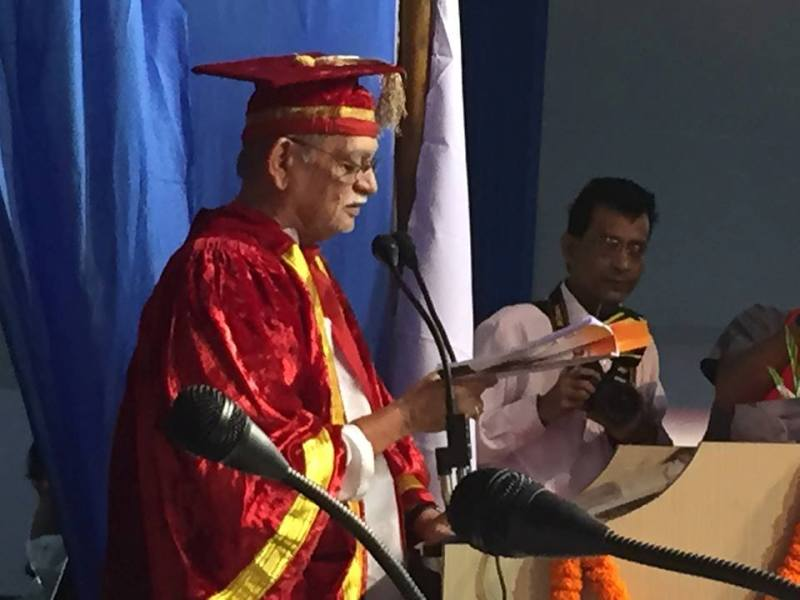 Gulzar as the chancellor of Assam University