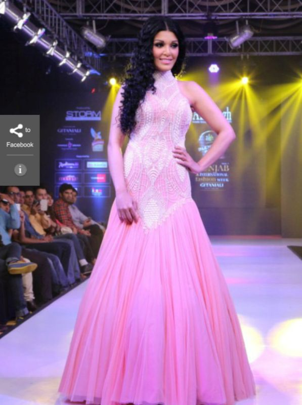 Koena Mitra during a fashion show
