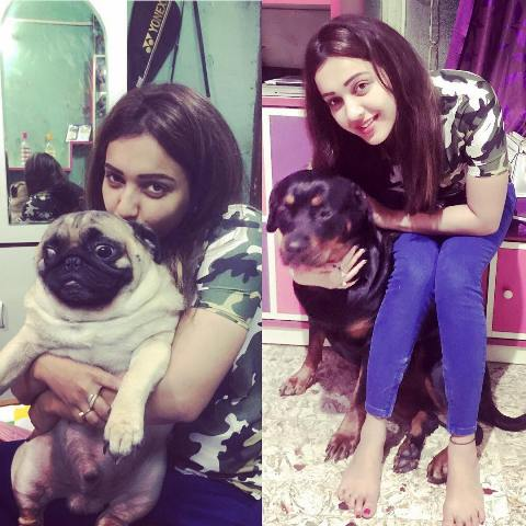 Koushani Mukherjee loves dogs