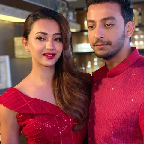 Koushani Mukherjee with Bonny Sengupta