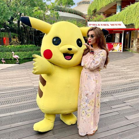 Koushani Mukherjee with Pikachu