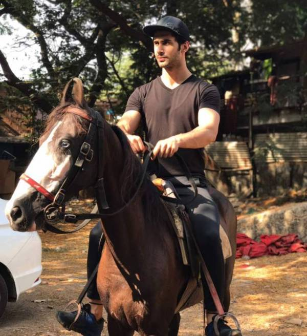 Laksh Lalwani learning horse riding