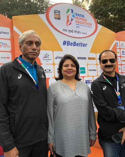 Madhu Chopra as a participant of the Mumbai Marathon
