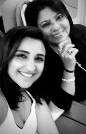 Madhu Chopra with Parineeti Chopra