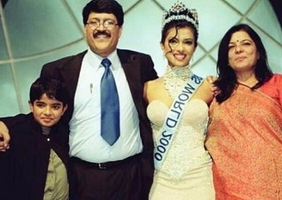 Madhu Chopra with her husband and kids