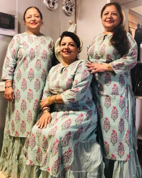 Madhu Chopra with her sisters