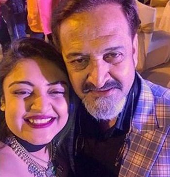 Mahesh Manjrekar with his daughter Ashwami