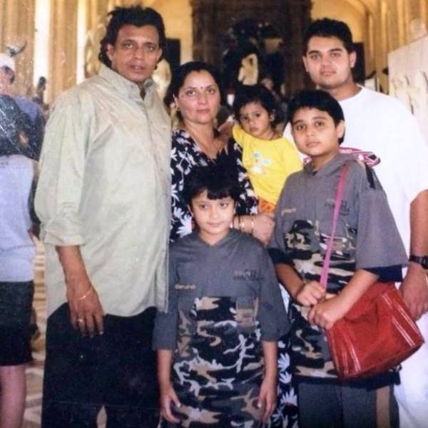 Namashi Chakraborty with His Family
