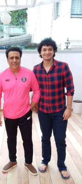 Namashi Chakraborty with Govinda