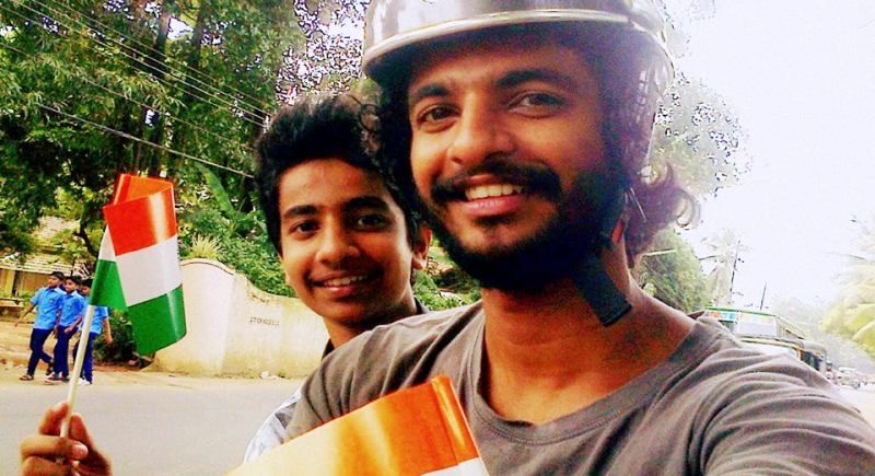 Neeraj Madhav with His Brother