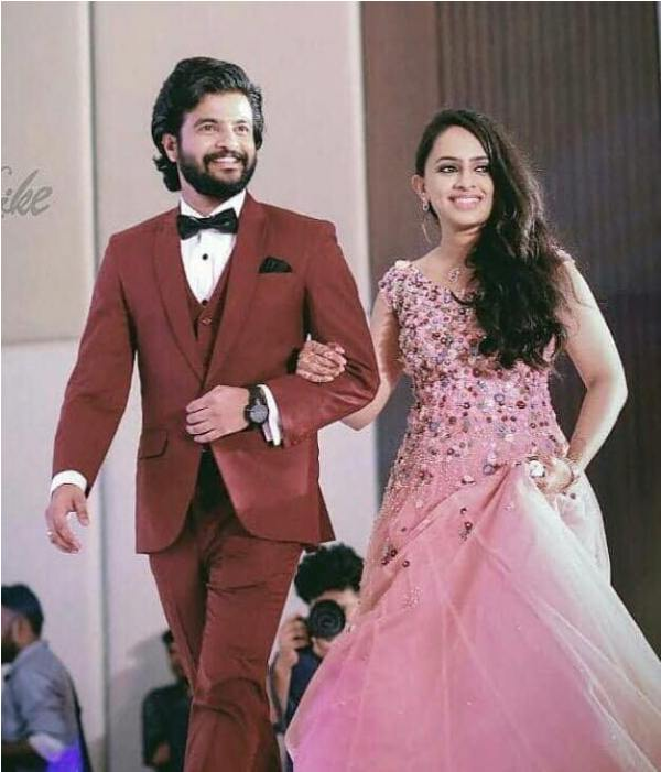 Neeraj Madhav with His Wife