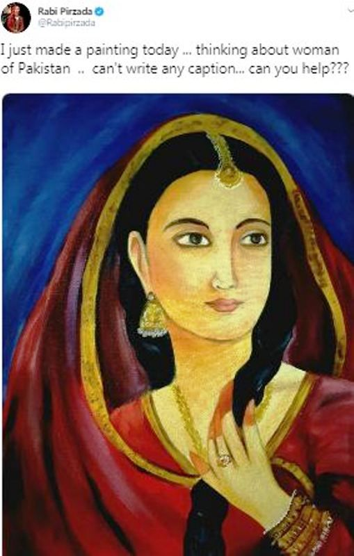 Painting Made by Rabi Pirzada