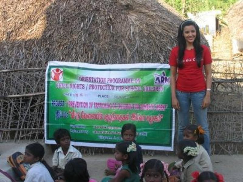 Priya Anand during Save the Children Campaign
