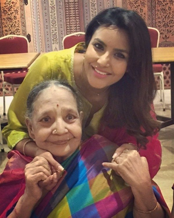 Priya Anand with her Grandmother