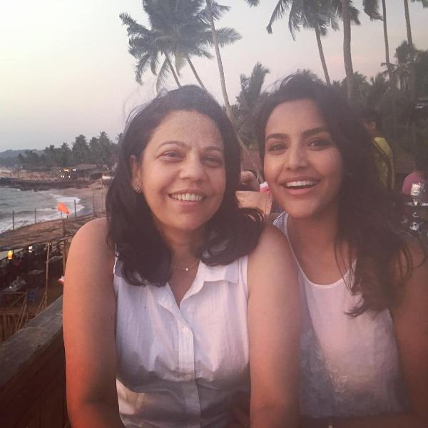 Priya Anand with her mother