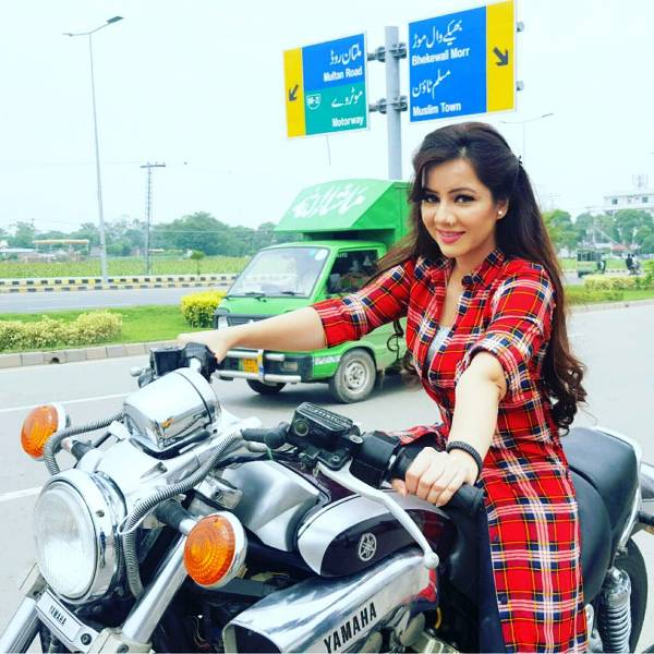 Rabi Pirzada with Her Bike