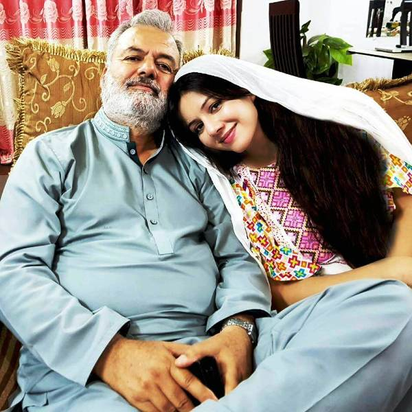 Rabi Pirzada with Her Father