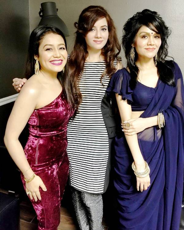 Rabi Pirzada with Neha Kakkar and Sonu Kakkar