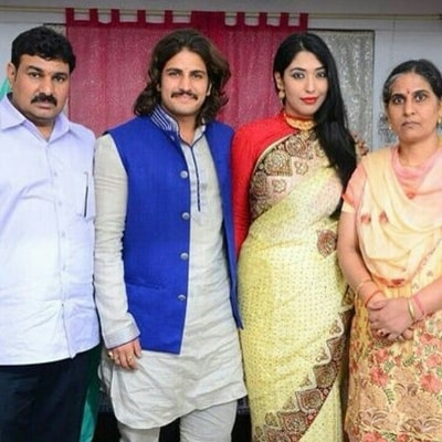 Rajat Tokas with his family