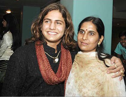 Rajat Tokas with his mother