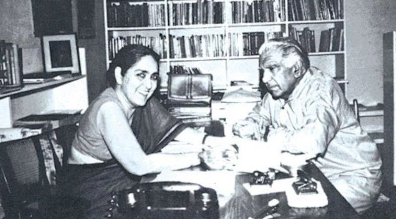 Romila Thapar with her brother