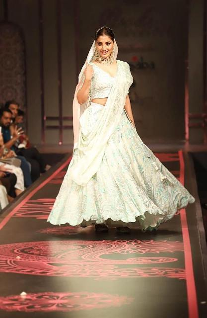 Rukmini Maitra walking the ramp for Masaba Gupta