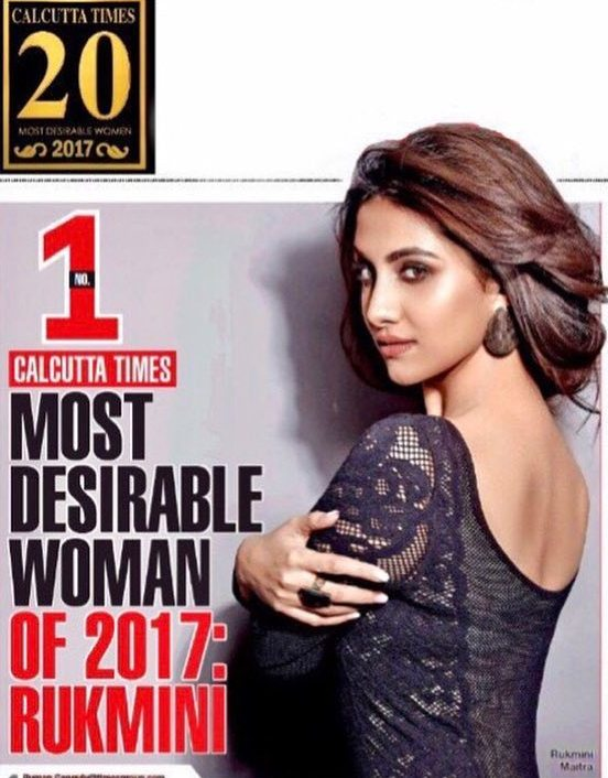 Rukmini Maitra as Calcutta Times Most Desirable Woman 2017