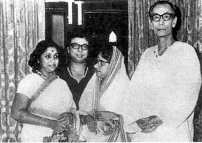 S . D. Burman With His Wife, Son and Daughter- In -Law