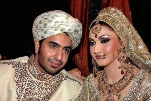 Sana Fakhar with Husband Fakhar Imam