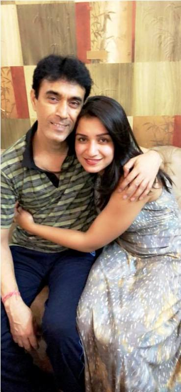Shefali Bagga with Her Father