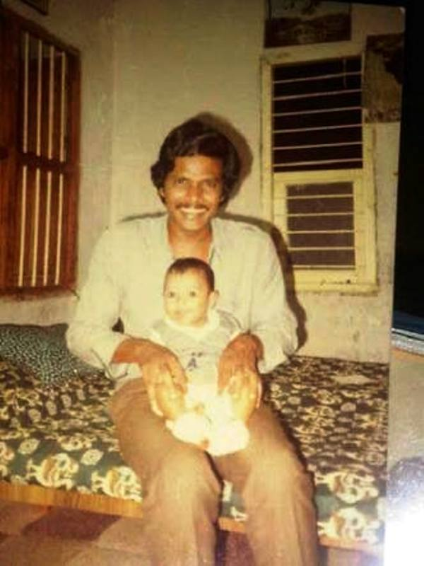 Sundeep Kishan with His Father