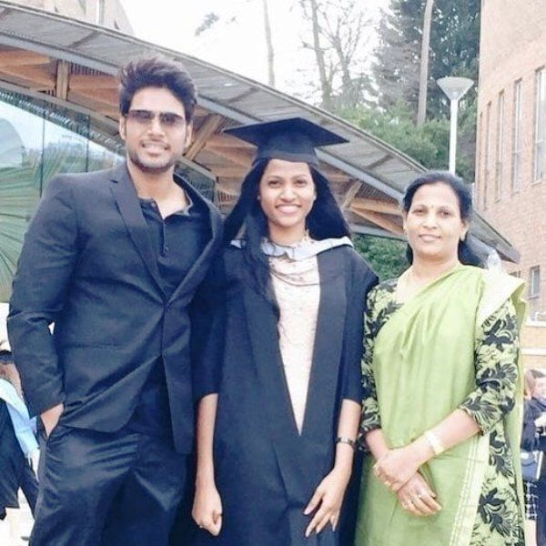 Sundeep Kishan with His Sister and Mother