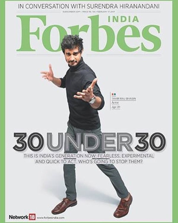 Tahir Raj Bhasin on the cover of Forbes