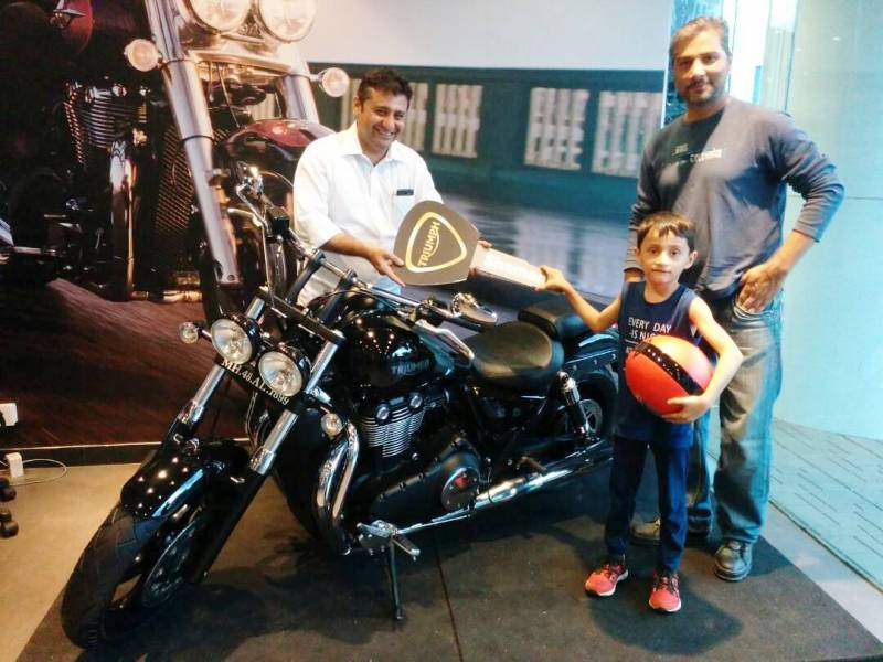 Varun Badola with His Bike