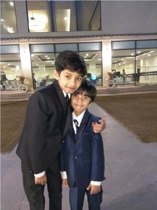 Vedant Sinha with His Brother