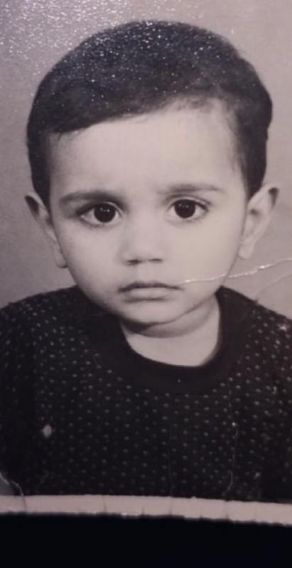 Yasser Desai as a child