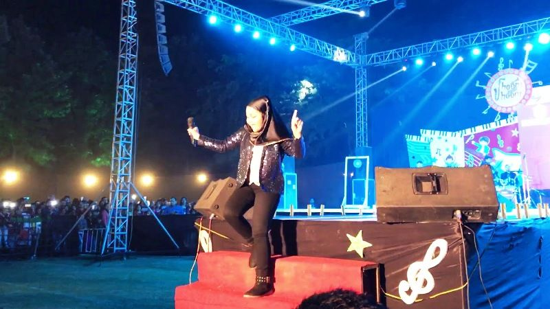 Yumna Ajin Performing At a Stage Show