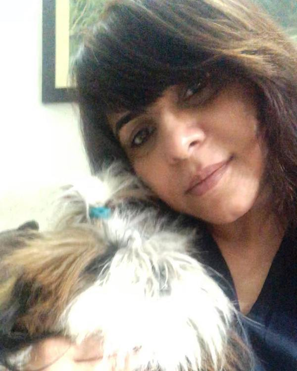 Aarti Bajaj with Her Pet Dog