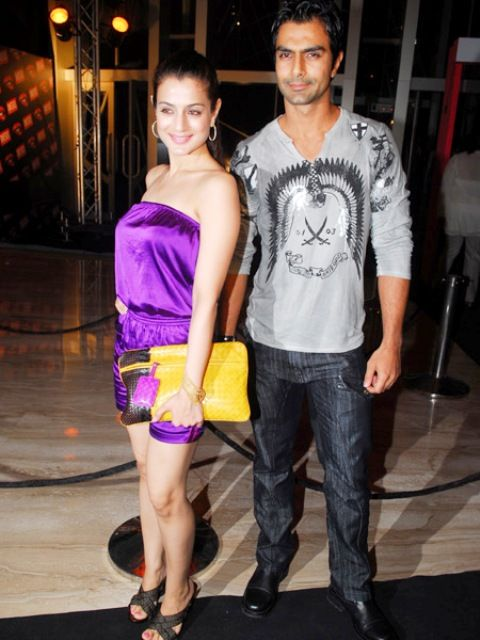 Ameesha Patel with her brother, Ashmit Patel