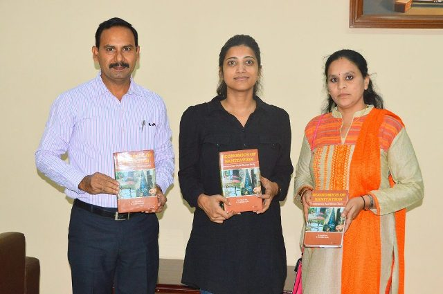 Amrapali Kata releasing Economics of Sanitation