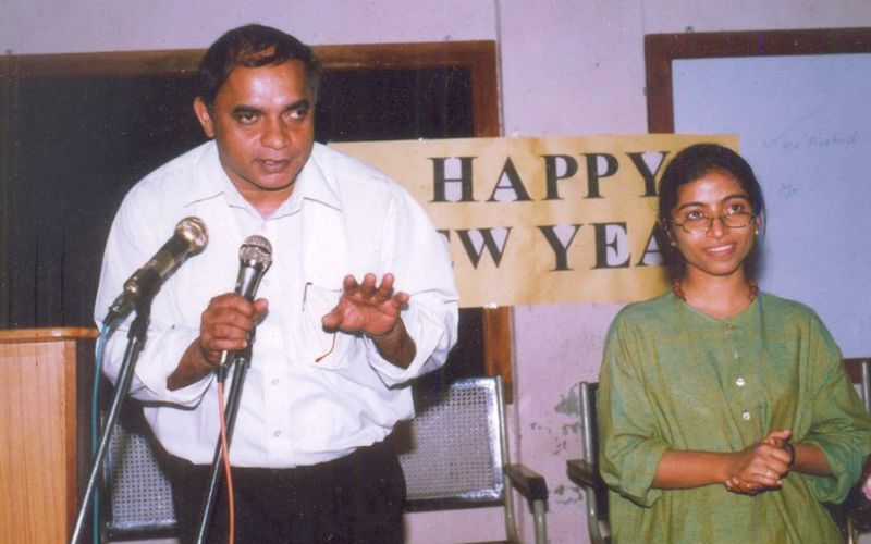 An Old Picture of Sunitha Krishnan with Brother Varghese Theckanath