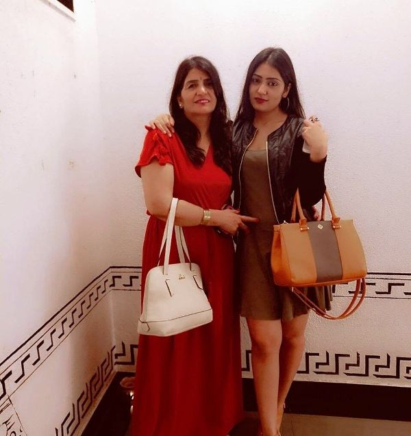 Anjali Tatrari with Her Mother