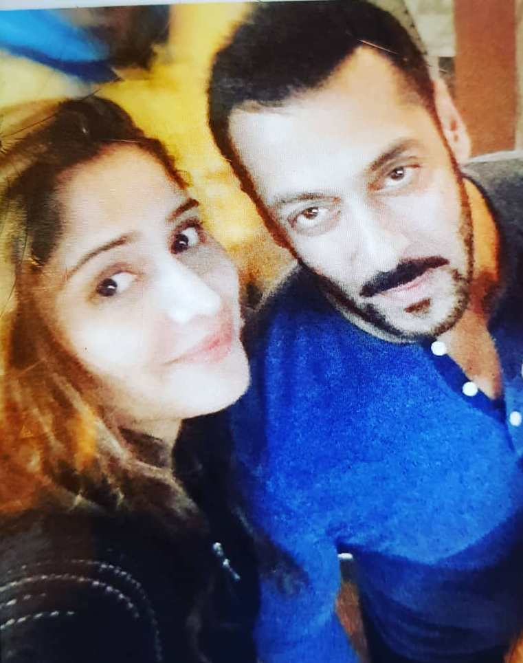 Arti Singh with Salman Khan